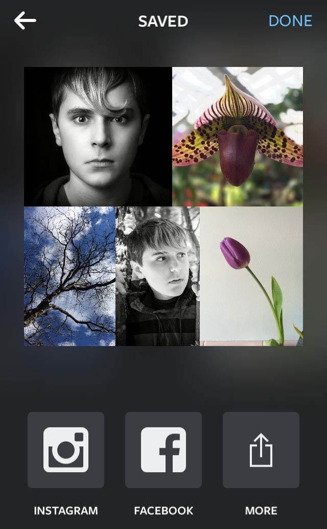 Instagram Layout App iPhone 10 no script