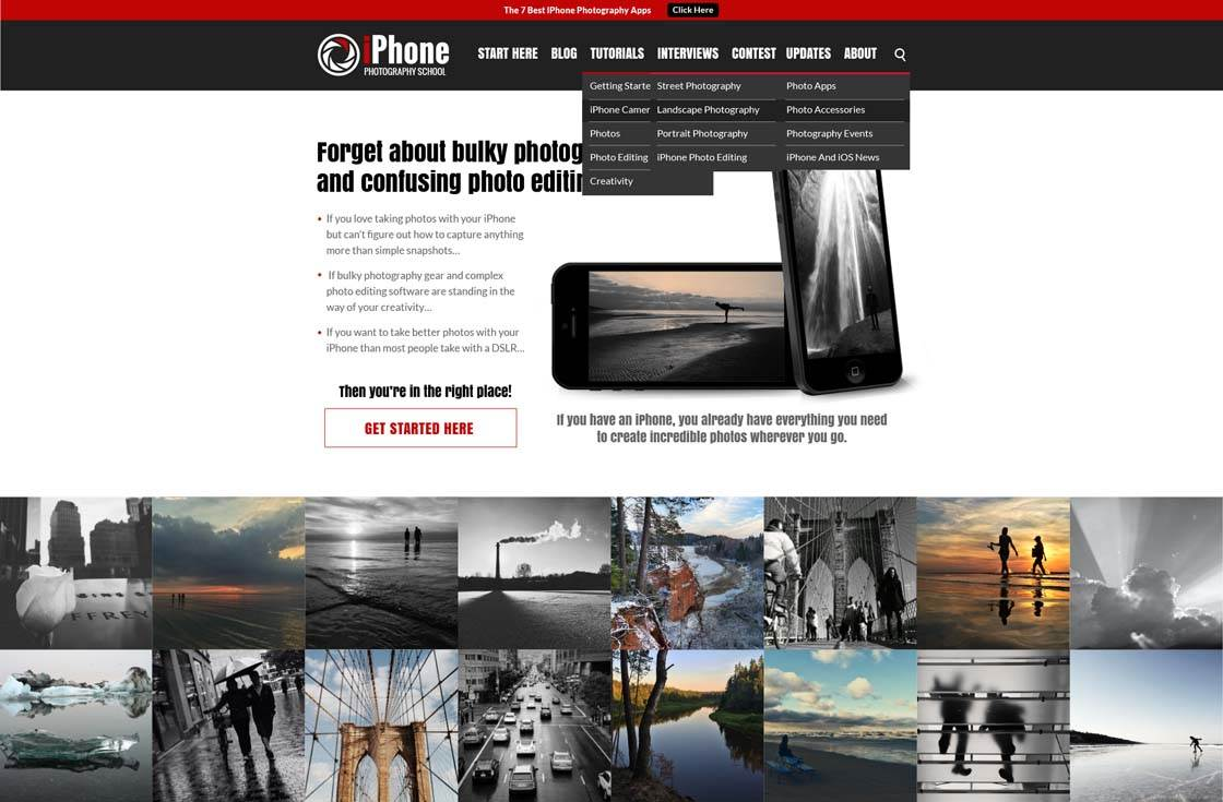 iPhone Photography School Homepage