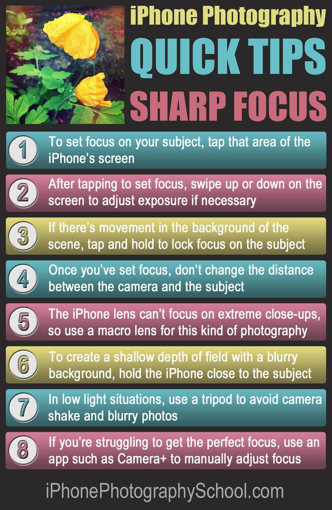iPhone Focus Quick Tips