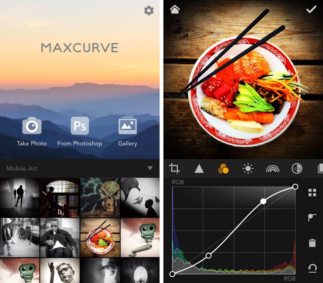 MaxCurve iPhone Photo App 1