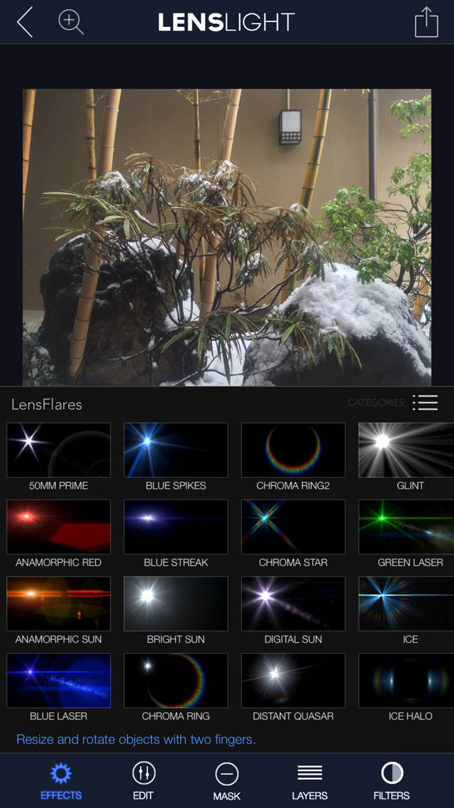Lenslight iPhone Photo App 23 no script