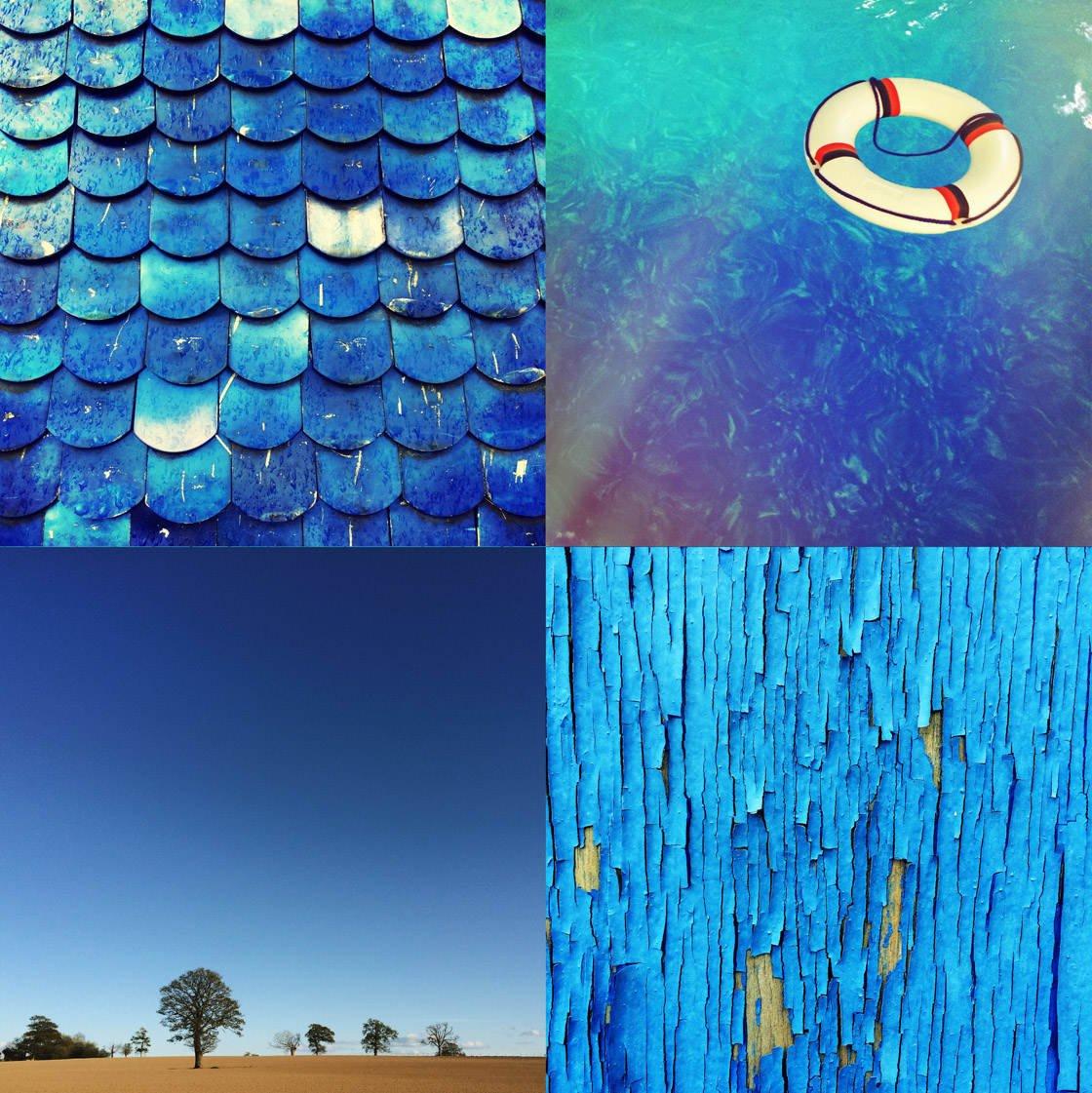 Blue iPhone Photo Collage 2 no script