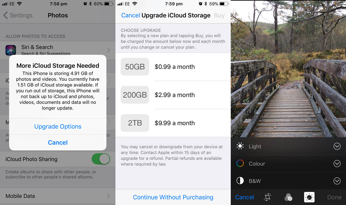 Photo storage app icloud 2 no script