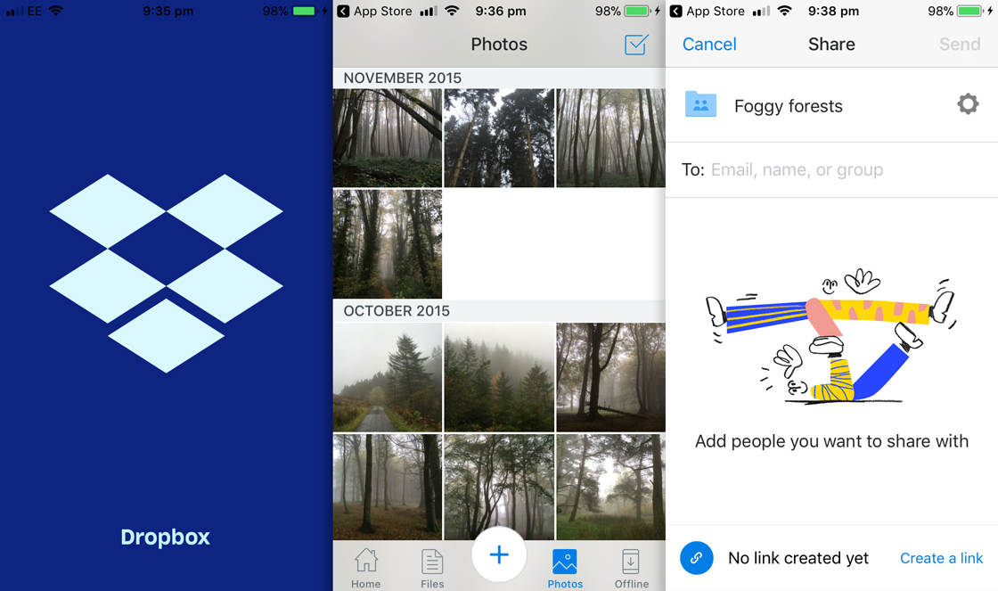 Photo storage app dropbox 1 no script