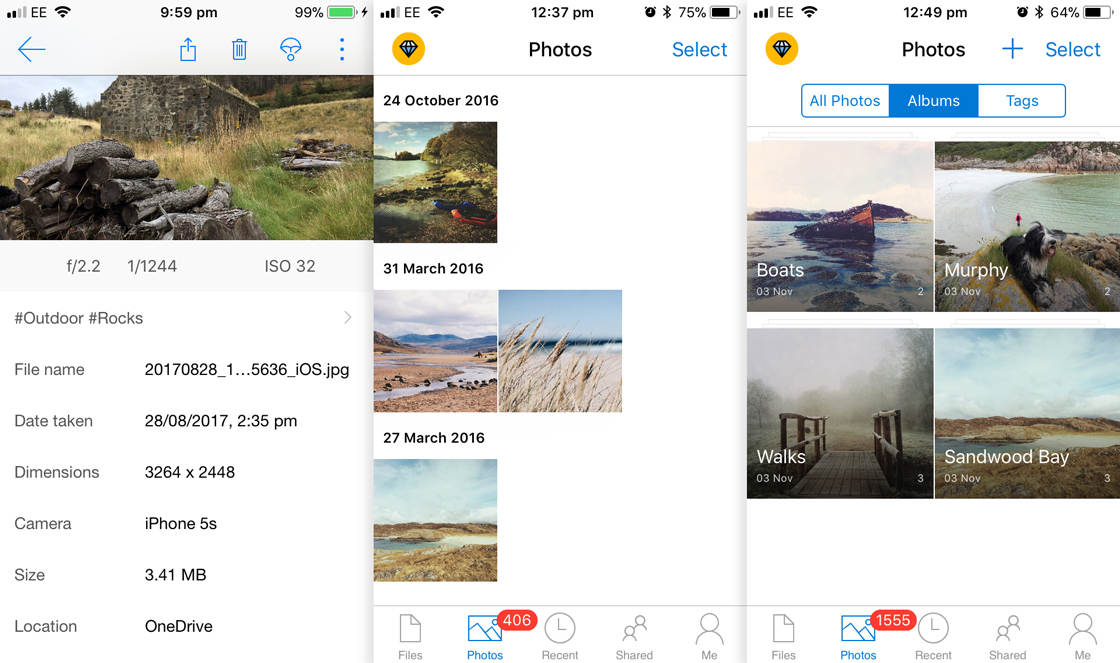 Photo storage app onedrive 2 no script