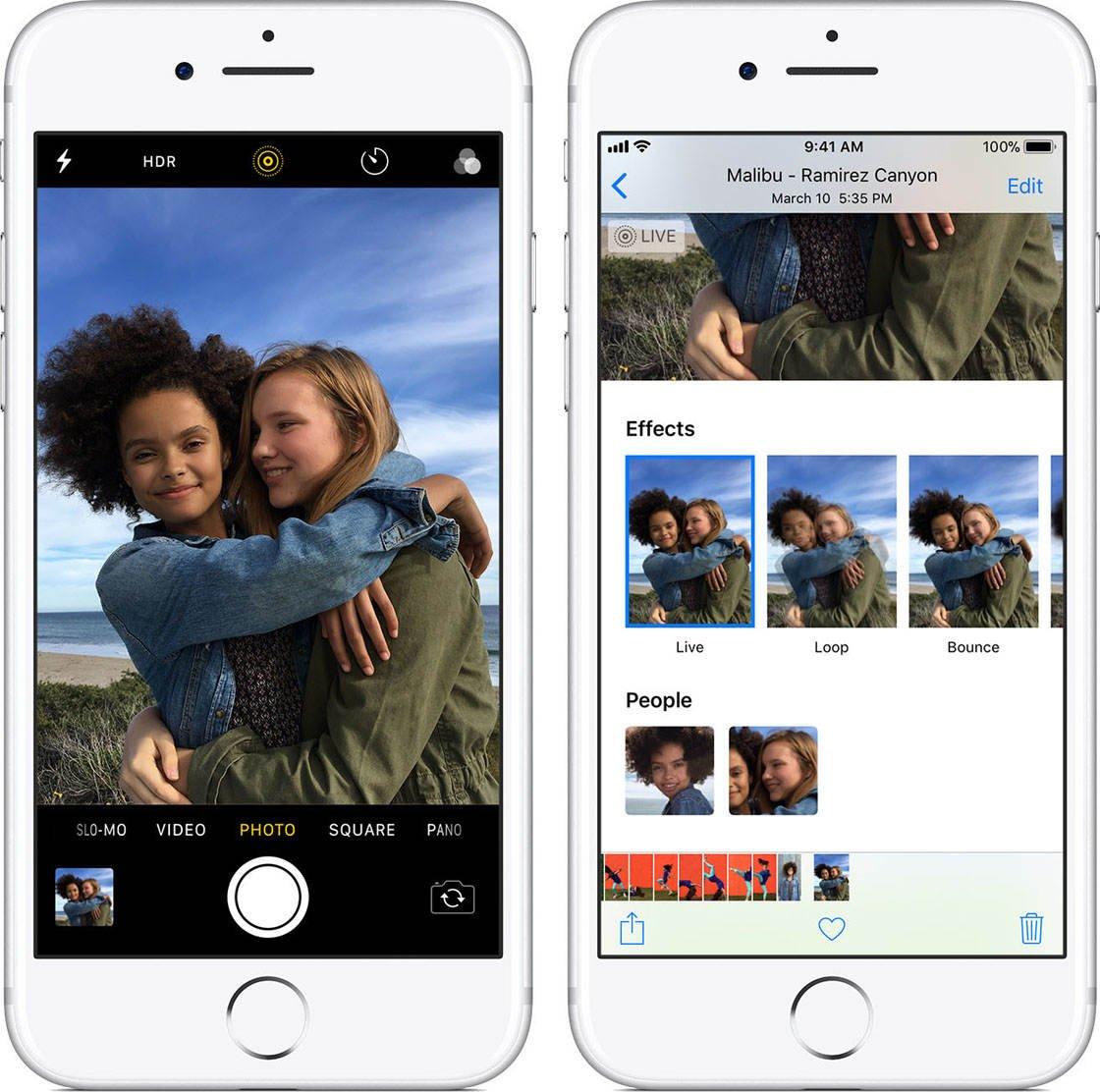 Native iPhone Camera App Live Photos