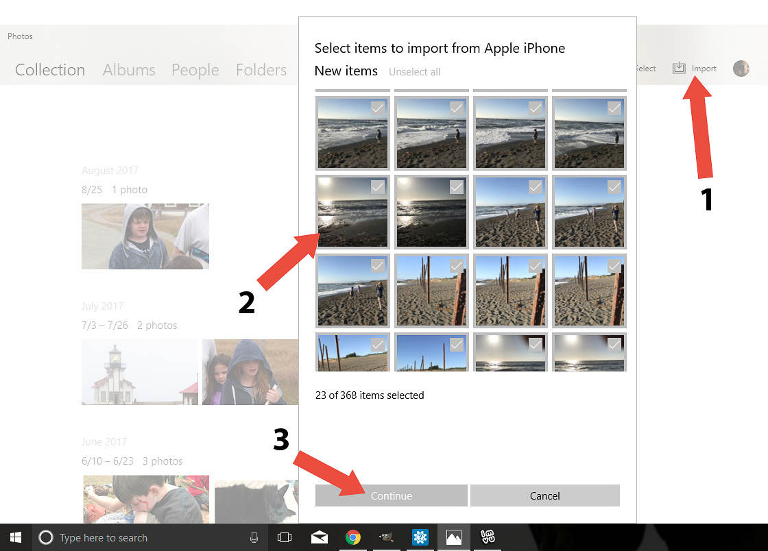 How to transfer photos from iphone to pc 12 no script