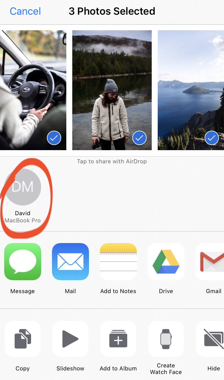 How To Transfer Photos From iPhone To Mac no script