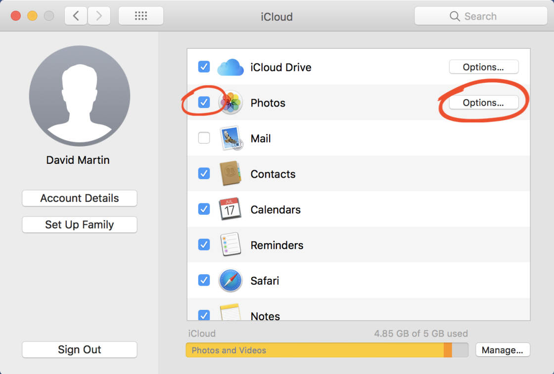 How to copy photos from iphone to icloud storage