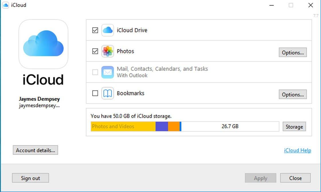 iCloud photos no script