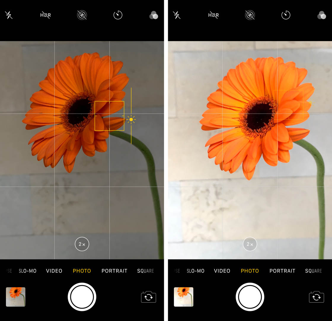 iPhone Camera Controls no script