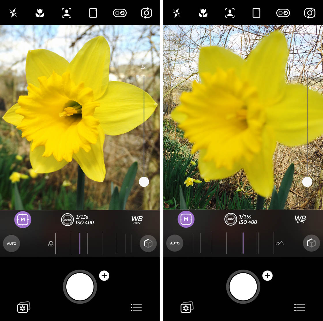 iPhone Camera Controls no script