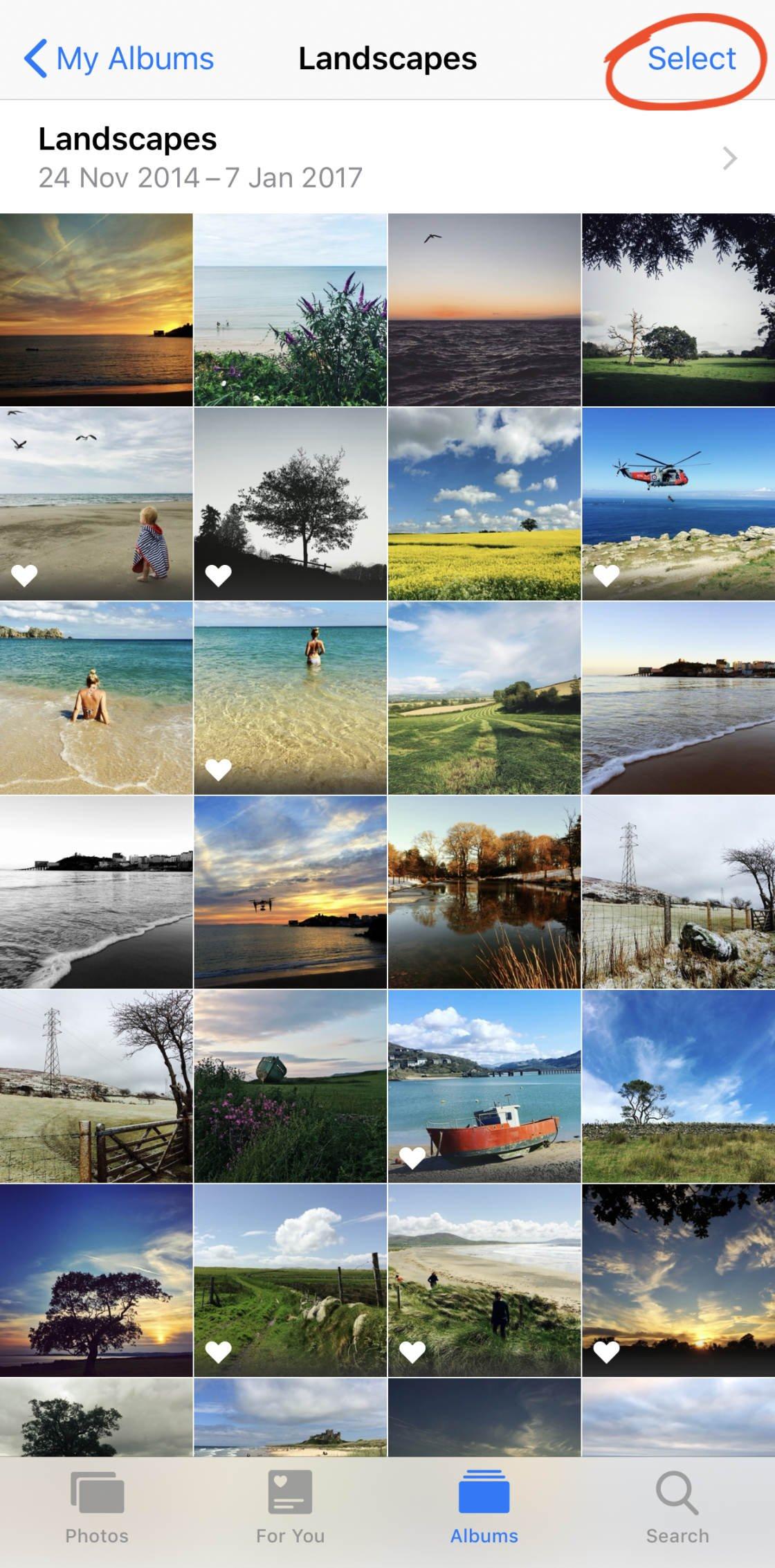 iPhone Photo Albums no script