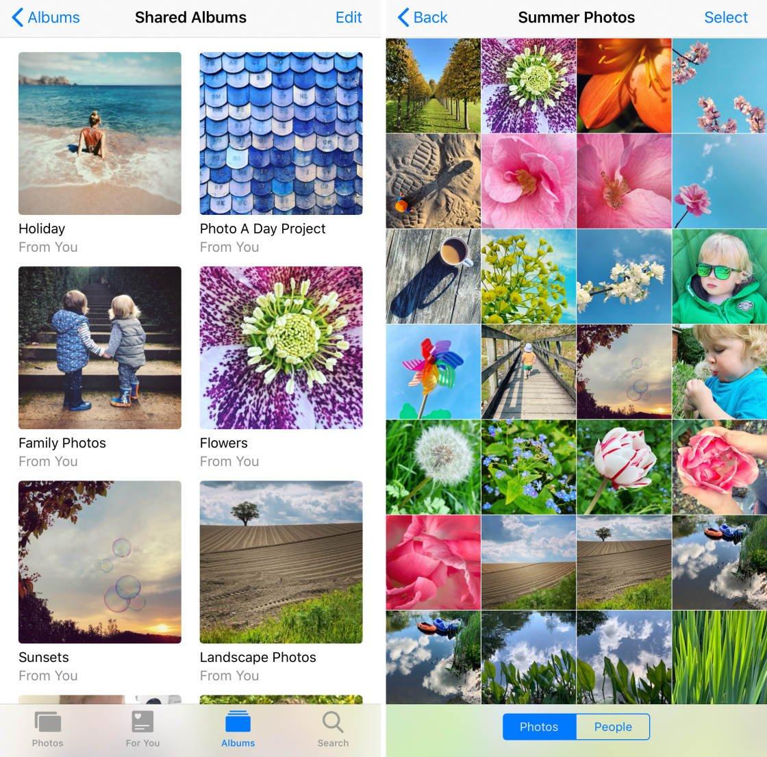 iCloud Photo Sharing no script