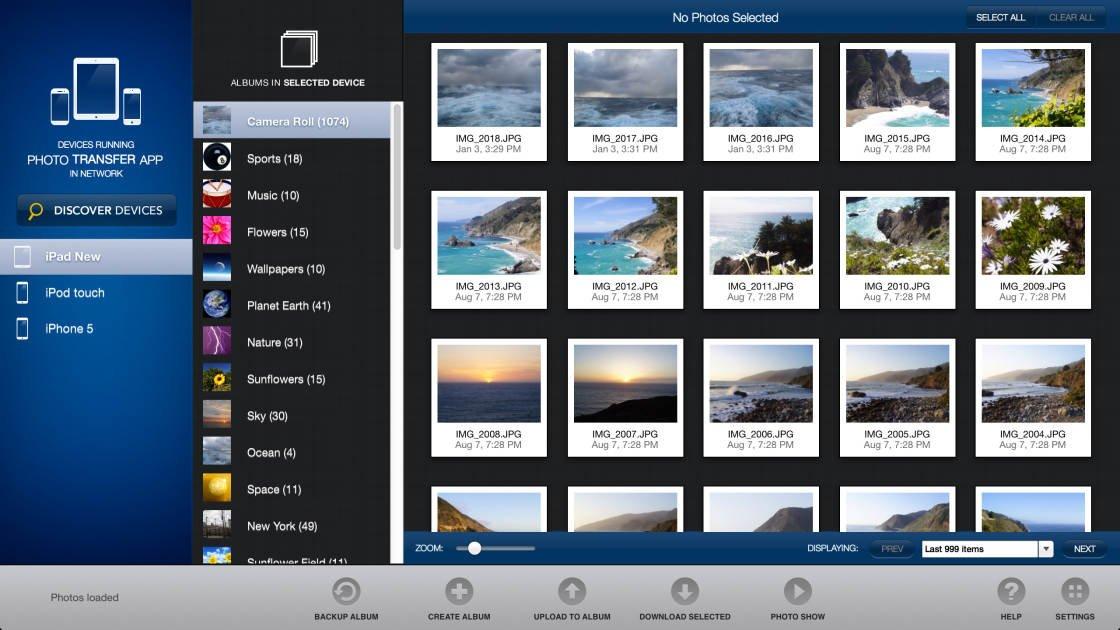 photo transfer app no script