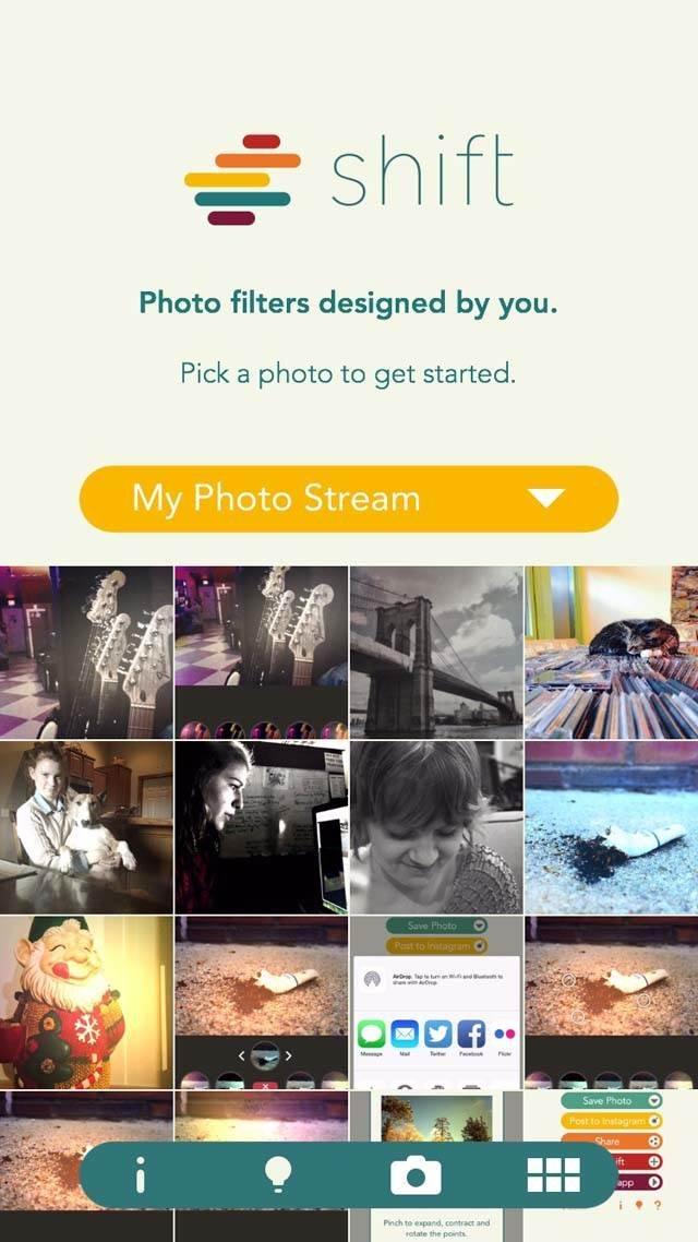 Shift App iPhone Photos 10 no script