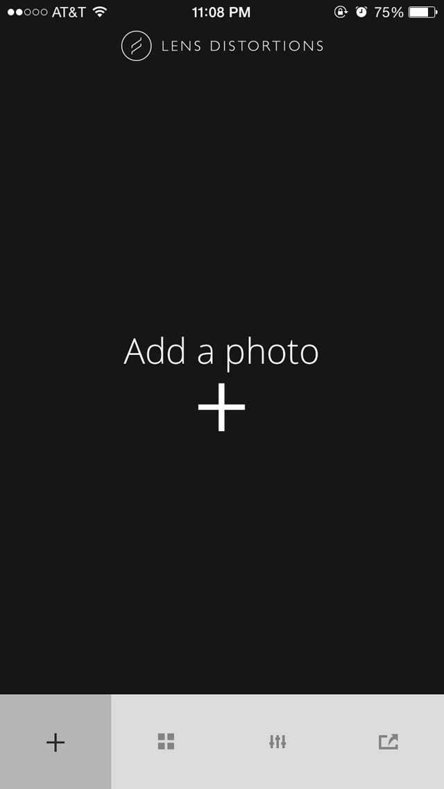 Lens Distortions iPhone App 7 no script