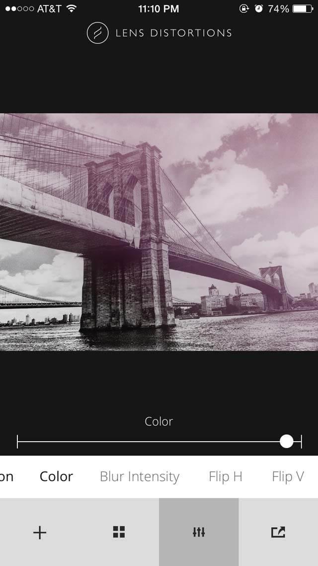 Lens Distortions iPhone App 5 no script