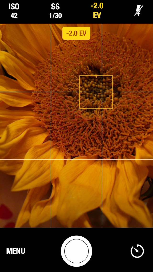 Manual Camera iPhone App 5 no script