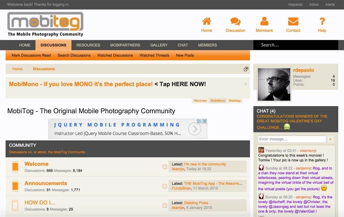 MobiTog Mobile Photography Community 1 no script
